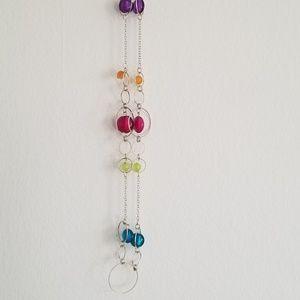 Jewelry - Fab! Silver & Multi-color Gumdrop Necklace **BOGO*